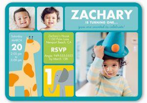 Baby Boy 1st Birthday Party Invitations Little Safari First Invitation Shutterfly