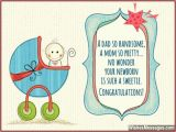 Baby Boy Birthday Card Messages Congratulations for Baby Boy Newborn Wishes and Quotes