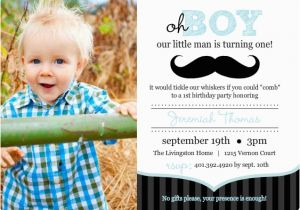 Baby Boy First Birthday Invitation Wording 1st Ideas From Purpletrail