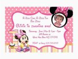 Baby First Birthday Cards Design Printable Baby Minnie Mouse First Birthday Invitations