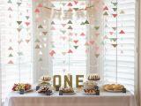 Baby Girl First Birthday Party Decoration Ideas Baby Geburtstag Feiern Schone Deko Ideen Fur Madchen