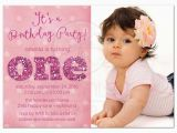 Baby Girl First Birthday Party Invitations 1st Birthday and Baptism Invitations 1st Birthday and