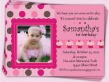 Baby Girl First Birthday Party Invitations Girl First Birthday Invitations