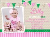 Baby Girls First Birthday Invitations 1st Birthday Invitations Girl Free Template Baby Girl 39 S
