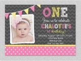 Baby Girls First Birthday Invitations Baby Girl 1st Birthday Invitations Drevio Invitations Design