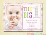 Baby Girls First Birthday Invitations Rainbow First Birthday Invitation Baby Girl Diy Photo