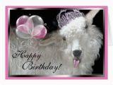Baby Goat Birthday Card Goat Princess Happy Birthday Card Zazzle