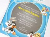 Baby Looney Tunes Birthday Invitations Baby Looney Tunes Birthday Invitations Oxyline C39cd84fbe37