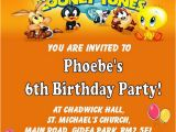Baby Looney Tunes Birthday Invitations Personalised Baby Looney Tunes Birthday Card