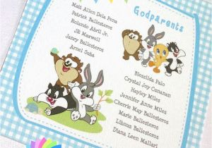 Baby Looney Tunes Birthday Invitations Images Of Baby Looney Tunes