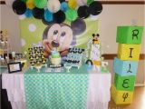 Baby Mickey Mouse 1st Birthday Decorations 98 1st Birthday Party Table Pink and Blue theme Party