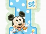 Baby Mickey Mouse 1st Birthday Decorations Baby Mickey Mouse 1st Birthday Invitations 8 Invites
