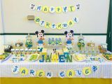 Baby Mickey Mouse 1st Birthday Decorations Baby Mickey Mouse Birthday Quot Happy 1st Birthday Quot Catch