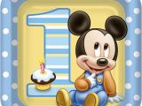Baby Mickey Mouse 1st Birthday Decorations Disney Mickey Mouse 1st Birthday Lunch Dinner Plates 8pcs