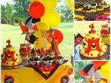 Baby Mickey Mouse 1st Birthday Decorations Kara 39 S Party Ideas Mickey Mouse themed 1st Birthday