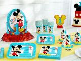 Baby Mickey Mouse 1st Birthday Decorations Mickey Mouse 1st Birthday Party Supplies Party City