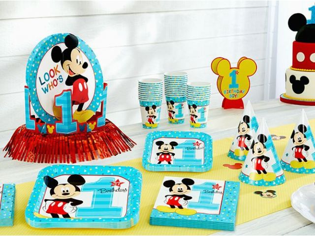 Download By SizeHandphone Tablet Desktop Original Size Back To Baby Mickey Mouse 1st Birthday Decorations