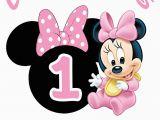 Baby Minnie 1st Birthday Decorations Baby Minnie 1st Birthday Iron On Transfer Decal