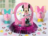 Baby Minnie 1st Birthday Decorations Baby Minnie Mouse 1st Birthday Party Table Decoration Kit