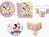 Baby Minnie 1st Birthday Decorations Baby Minnie Mouse Birthday Party Supplies Decorations Girl