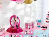 Baby Minnie 1st Birthday Decorations Minnie Mouse First Birthday Partyware Disney Baby