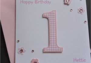 Baby S First Birthday Card Ideas Handmade Personalised Girls 1st 2nd 3rd 4th Etc Birthday