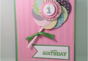 Baby S First Birthday Card Ideas Inkypinkies Baby 39 S First Birthday Lollipop Card How to