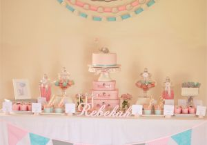 Babys First Birthday Decorations Pink Decoration Idea for Christening Baby Girl Party