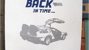 Back to the Future Birthday Card Back to the Future Belated Birthday Card