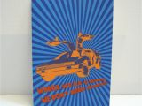 Back to the Future Birthday Card Back to the Future Greeting Card