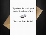 Back to the Future Birthday Card Funny Back to the Future Birthday Card You 39 Re Older Than