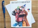 Back to the Future Birthday Card Marty Und Doc Geburtstagskarte 80er Jahre Filme Nerd
