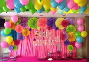 Background Decoration For Birthday Party At Home Backdrop Decorations