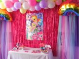 Background Decoration for Birthday Party at Home Raising them Up Right My Little Pony Party
