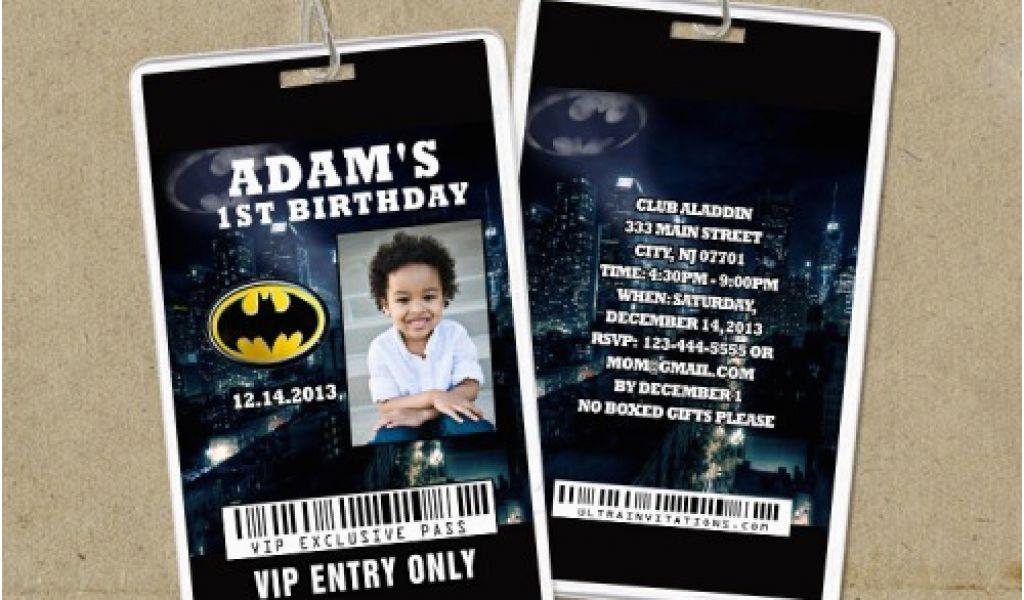 Backstage Pass Birthday Invitations Batman Vip Pass Backstage Pass