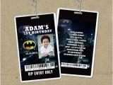 Backstage Pass Birthday Invitations Batman Vip Pass Backstage Pass Invitations Lanyard Invites