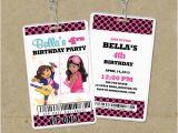 Backstage Pass Birthday Invitations Dora Vip Pass Backstage Pass Invitations Lanyard Invites