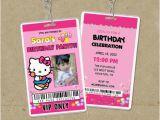 Backstage Pass Birthday Invitations Hello Kitty Vip Pass Invitations Backstage Pass Invites
