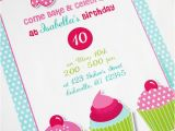 Baking Birthday Party Invitations Free A Very Sweet Pink Cupcake Baking Birthday Party Party