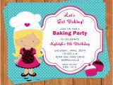 Baking Birthday Party Invitations Free Baking Party Invitation Kids Birthday Printable