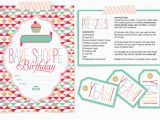 Baking Birthday Party Invitations Free Design Wash Rinse Repeat Freebie Bake Shoppe