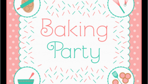 Baking Birthday Party Invitations Free Free Baking Party Printables From Printabelle Catch My Party