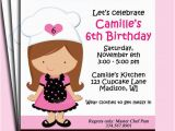 Baking Birthday Party Invitations Free Girl Baking Birthday Invitation Printable or Printed with Free