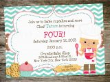 Baking Birthday Party Invitations Free Print Birthday Invitations for Free Free Invitation