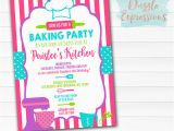 Baking Birthday Party Invitations Free Printable Baking Party Birthday Invitation Girls Chef