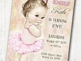 Ballerina Birthday Invites Ballerina Birthday Ballerina Invitation First Birthday