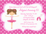 Ballerina Birthday Invites Ballerina Birthday Invitations Ideas Bagvania Free