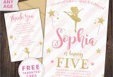 Ballerina Birthday Invites Ballerina Invitation Ballerina Party First Birthday