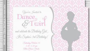 Ballerina Birthday Invites Ballet Birthday Invitation Ballerina Party Invitation