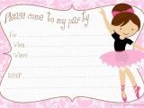 Ballerina Birthday Invites Printable Free Diy Ballerina Party Invitations Party